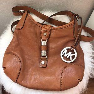 Michael Kors midsize crossbody leather bag